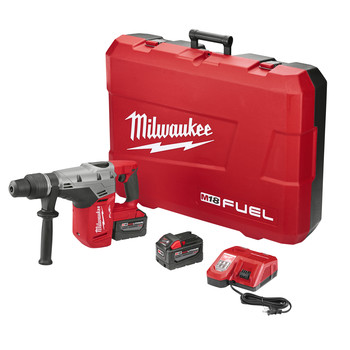 Factory Reconditioned Milwaukee 2717-82HD M18 FUEL 9.0 Ah Lithium-Ion 1-9/16 in. Rotary Hammer Kit with 2 Batteries image number 0