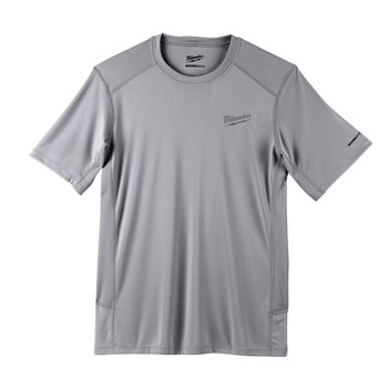 Milwaukee 414G-2X WORKSKIN Lightweight Short Sleeve Performance Shirt - Gray, 2X