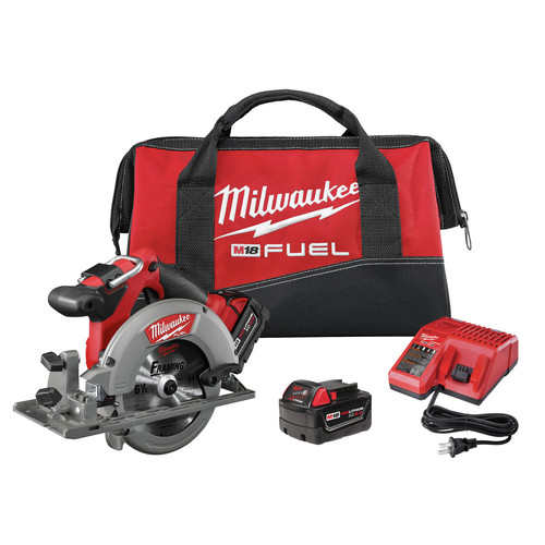 Factory Reconditioned Milwaukee 2730-82 M18 FUEL Cordless 6-1/2 in. Circular Saw with 2 REDLITHIUM Batteries image number 0
