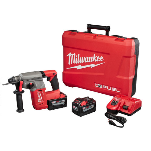 Milwaukee 2712-22HD M18 FUEL 18V 9.0 Ah Cordless Lithium-Ion 1 in. SDS Plus Rotary Hammer Kit