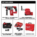 Milwaukee 2712-22DE M18 FUEL Lithium-Ion 1 in. SDS Plus Rotary Hammer and HAMMERVAC Dedicated Dust Extractor Kit image number 1