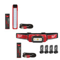 Milwaukee 2112-2111 USB Rechargeable Rover Pocket Flood Light and Hard Hat Headlamp Bundle image number 0