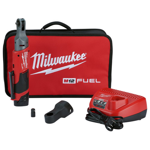 Milwaukee 2556-21 M12 FUEL 1/4 in. Ratchet 1 Battery Kit