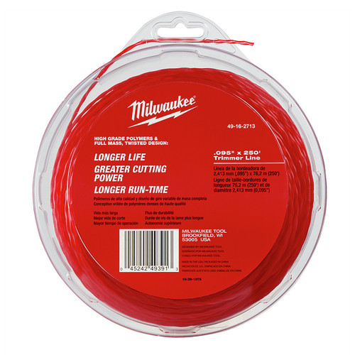 Milwaukee 49-16-2713 .095 in. x 250 ft. Trimmer Line image number 0