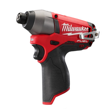 Factory Reconditioned Milwaukee 2453-80 M12 FUEL Cordless Lithium-Ion 1/4 in. Hex Impact Driver (Tool Only) image number 1