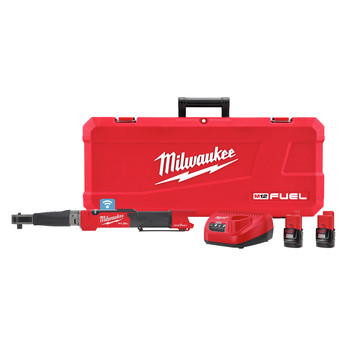 Milwaukee 2466-22 M12 FUEL Cordless Lithium-Ion 1/2 in. Digital Torque Wrench Kit with ONE-KEY (2 Ah)