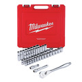 Milwaukee 9010-9013-BNDL 47-Piece SAE and Metric 1/2 in. Drive Ratchet and Socket Set with 1-Piece 1/2 in. Drive 24 in. Breaker Bar image number 1