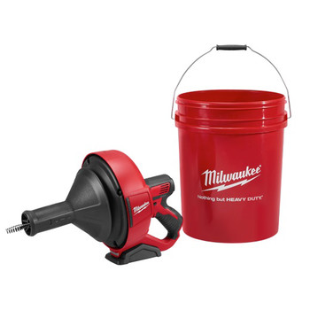 Milwaukee 2571-20 12V Cordless Li-Ion Drain Snake with Bucket (Tool Only) image number 0
