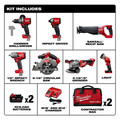 Milwaukee 2997-27 M18 FUEL 7-Tool Combo Kit image number 10