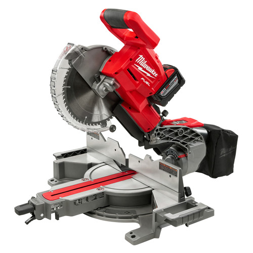 Milwaukee 2734-21HDP FUEL 18V Lithium-Ion Dual-Bevel Sliding Compound Miter Saw Kit with FREE 2nd Battery