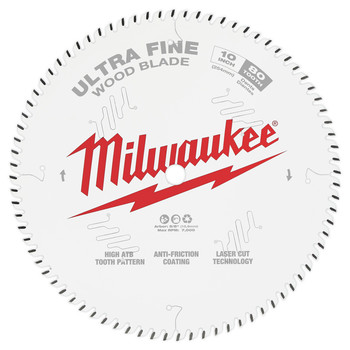 Milwaukee 48-40-1032 10 in. 80T Ultra Fine Finish Circular Saw Blade image number 0