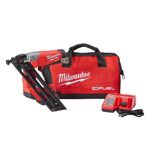 Factory Reconditioned Milwaukee 2743-81CT M18 FUEL Cordless Lithium-Ion 15-Gauge Brushless Finish Nailer Kit image number 0