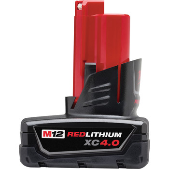 Milwaukee 2416-21XC M12 FUEL 4.0 Ah Cordless Lithium-Ion 5/8 in. SDS Plus Rotary Hammer Kit image number 3