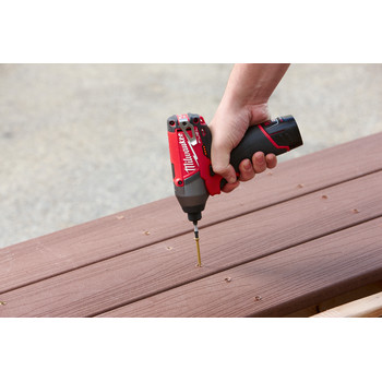 Factory Reconditioned Milwaukee 2453-80 M12 FUEL Cordless Lithium-Ion 1/4 in. Hex Impact Driver (Tool Only) image number 2