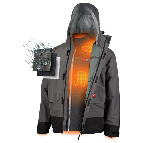 Milwaukee 203RN-21XL M12 3-in-1 Heated AXIS Jacket Kit with Rainshell image number 2