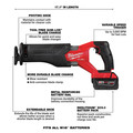 Milwaukee 2998-25 M18 FUEL Brushless Lithium-Ion Cordless 5-Tool Combo Kit (5 Ah) image number 14