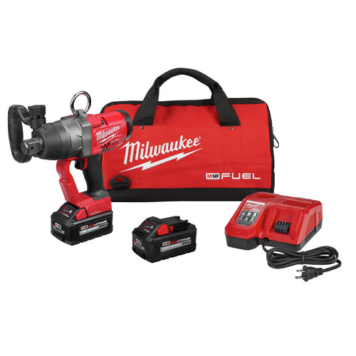 Milwaukee 2867-22 M18 FUEL 1 in. High Torque Impact Wrench Kit with ONE KEY and (2) 8.0 Ah Batteries image number 0