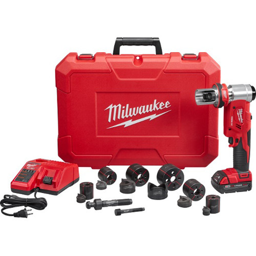 Milwaukee 2677-21 M18 Force Logic Cordless Lithium-Ion 6T 1/2 in. - 2 in. Knockout Tool Kit