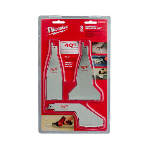Milwaukee 49-22-5403 3-Piece Material Removal Blade Set image number 0