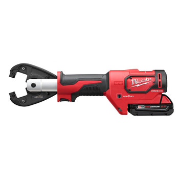 Milwaukee 2678-22K M18 Force Logic 18V 2.0 Ah Cordless Lithium-Ion 6T Utility Crimper Kit with Kearney Grooves image number 2