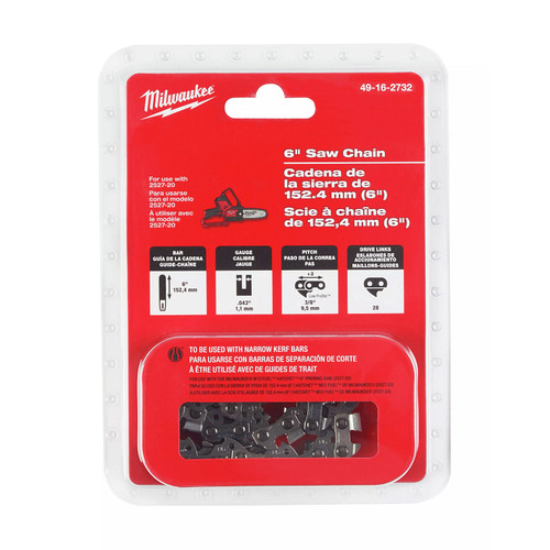 Milwaukee 49-16-2732 6 in. Saw Chain for M12 FUEL HATCHET Pruning Saw image number 0