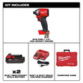 Milwaukee 2853-22CT M18 FUEL 1/4 in. Hex Impact Driver CP Kit image number 1