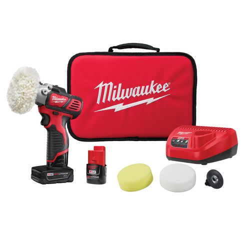 Milwaukee 2438-22X M12 Lithium-Ion Variable Speed Polisher/Sander XC Kit image number 0