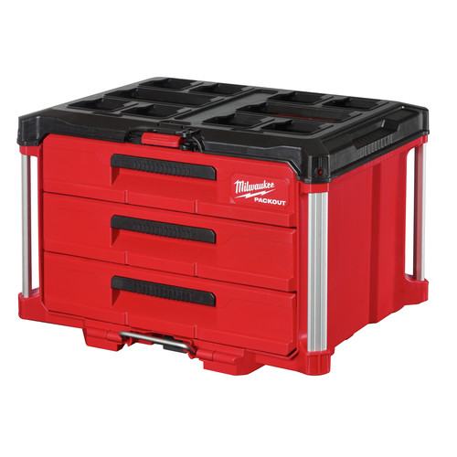 Milwaukee 48-22-8443 PACKOUT 50 lbs. Capacity 3-Drawer Tool Box image number 0