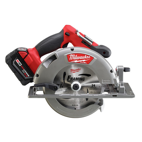 Factory Reconditioned Milwaukee 2731-82 M18 FUEL Cordless Lithium-Ion 7-1/4 in. Circular Saw Kit with 2 Batteries image number 1