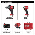 Milwaukee 2997-22 M18 FUEL Brushless Lithium-Ion 1/2 in. Cordless Hammer Drill Driver/ 1/4 in. Impact Driver Combo Kit (5 Ah) image number 1