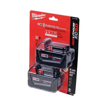 Milwaukee 48-11-1852 M18 REDLITHIUM XC 5 Ah Lithium-Ion Extended Capacity Battery (2-Piece)