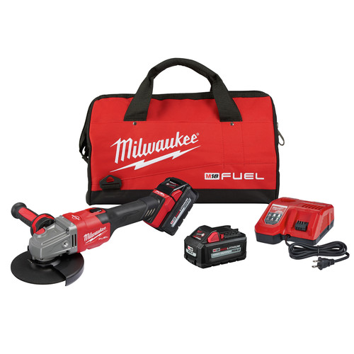 Milwaukee 2981-22 M18 FUEL 4-1/2 in. - 6 in. Braking Grinder Kit with Lock-On Slide Switch & (2) 6 Ah Li-Ion Batteries image number 0