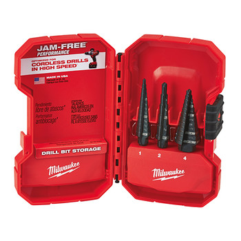 Milwaukee 48-89-9221 3 Piece Step Drill Bit Set