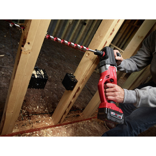Milwaukee 2708-20 M18 FUEL HOLE HAWG Lithium-Ion 1/2 in. Cordless Right Angle Drill with QUIK-LOK (Tool Only) image number 4