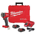 Milwaukee 2854-22CT M18 FUEL Lithium-Ion Brushless Compact 3/8 in. Cordless Impact Wrench Kit with Friction Ring (2 Ah) image number 0