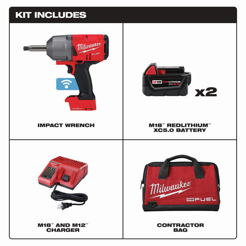 Milwaukee 2769-22 M18 FUEL Lithium-Ion 1/2 in. Extended Anvil Controlled Torque Impact Wrench Kit with ONE-KEY (5 Ah) image number 0