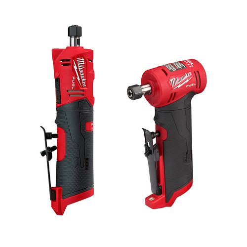 Milwaukee 2485-2486-BNDL M12 FUEL 12-Volt Lithium-Ion Brushless Cordless 1/4 in. Right Angle and Straight Die Grinder image number 0