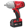 Milwaukee 2663-22 M18 18V Cordless 1/2 in. Lithium-Ion Impact Wrench with 2 Batteries