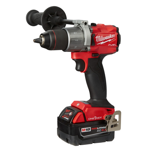 Milwaukee 2806-22 M18 FUEL Lithium-Ion 1/2 in. Cordless Hammer Drill Kit with ONE-KEY (5 Ah) image number 1