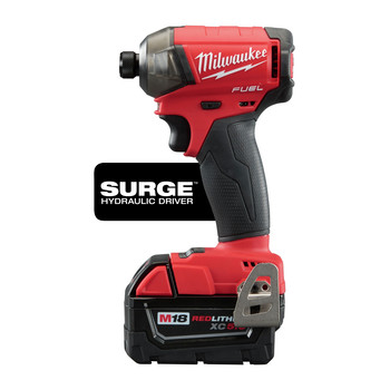 Milwaukee 2760-22CT M18 FUEL SURGE 2.0 Ah 1/4 in. Hex Hydraulic Impact Driver Kit image number 1