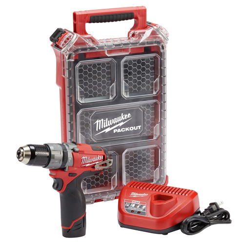 Milwaukee 2404-21P M12 FUEL 1/2 in. Hammer Drill with FREE Packout Case