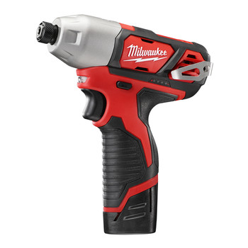 Milwaukee 2462-22 M12 12V Cordless Lithium-Ion 1/4 in. Hex Impact Driver Kit image number 2