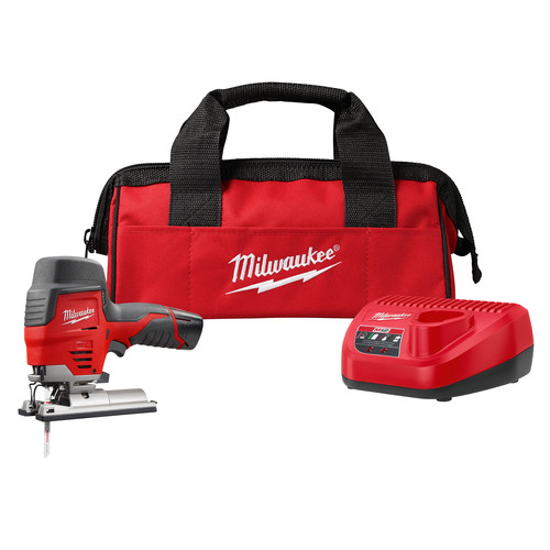 Milwaukee 2445-21 M12 12V Cordless Lithium-Ion High Performance Hybrid Grip Jig Saw image number 0