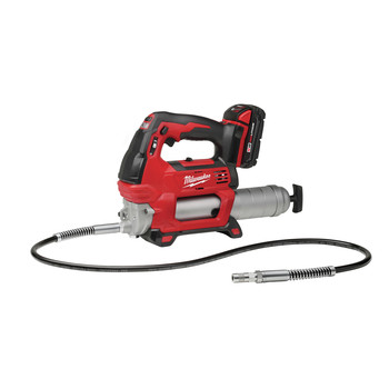Milwaukee 2646-22CT M18 18V Cordless Lithium-Ion 2-Speed Grease Gun with 2 Batteries image number 2