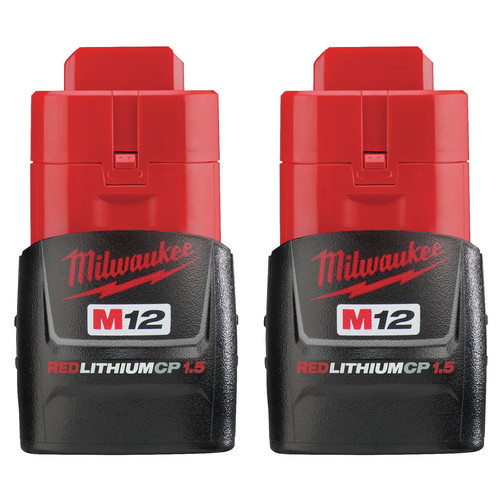 Milwaukee 48-11-2411 M12 REDLITHIUM CP 1.5 Ah Lithium-Ion Compact Battery (2-Pack) image number 0