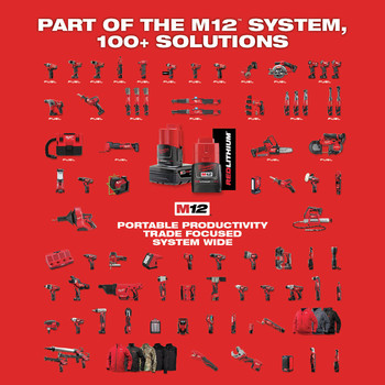 Milwaukee 2463-22 M12 12V Cordless Lithium-Ion 3/8 in. Impact Wrench Kit image number 4