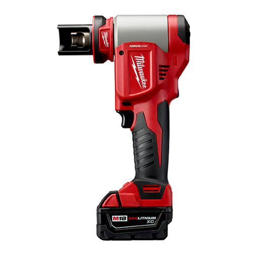 Milwaukee 2676-23 M18 FORCE LOGIC Cordless Lithium-Ion High Capacity Knockout Kit with EXACT 1/2 - 4 in. Knockout Set
