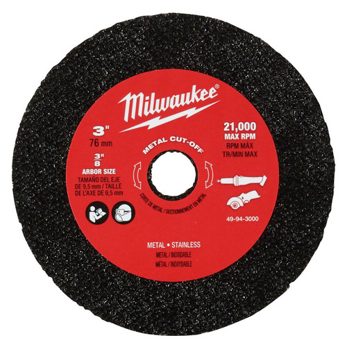 Milwaukee 49-94-3000 3 in. Metal Cut Off Wheel 3/pk.