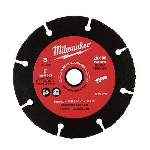 Milwaukee 49-94-3005 3 in. Carbide Abrasive Blade