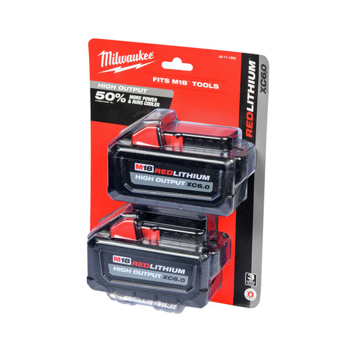 Milwaukee 48-11-1862 M18 REDLITHIUM HIGH OUTPUT XC 6 Ah Lithium-Ion Battery (2-Pack) image number 0